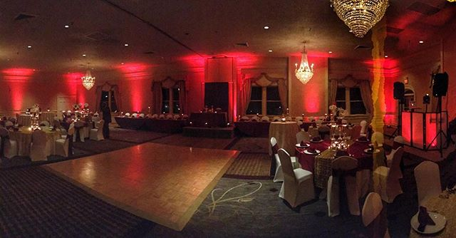 Uplighting makes a difference! #CobbWedding