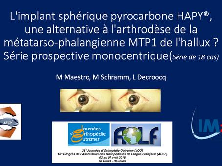 L'implant sphérique pyrocarbone HAPY