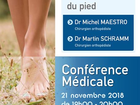 Conférence médicale : Chirurgie des déformations neurologiques du pied