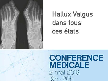 Conférence médicale : Hallux Valgus dans tous ces états 02.05.2019