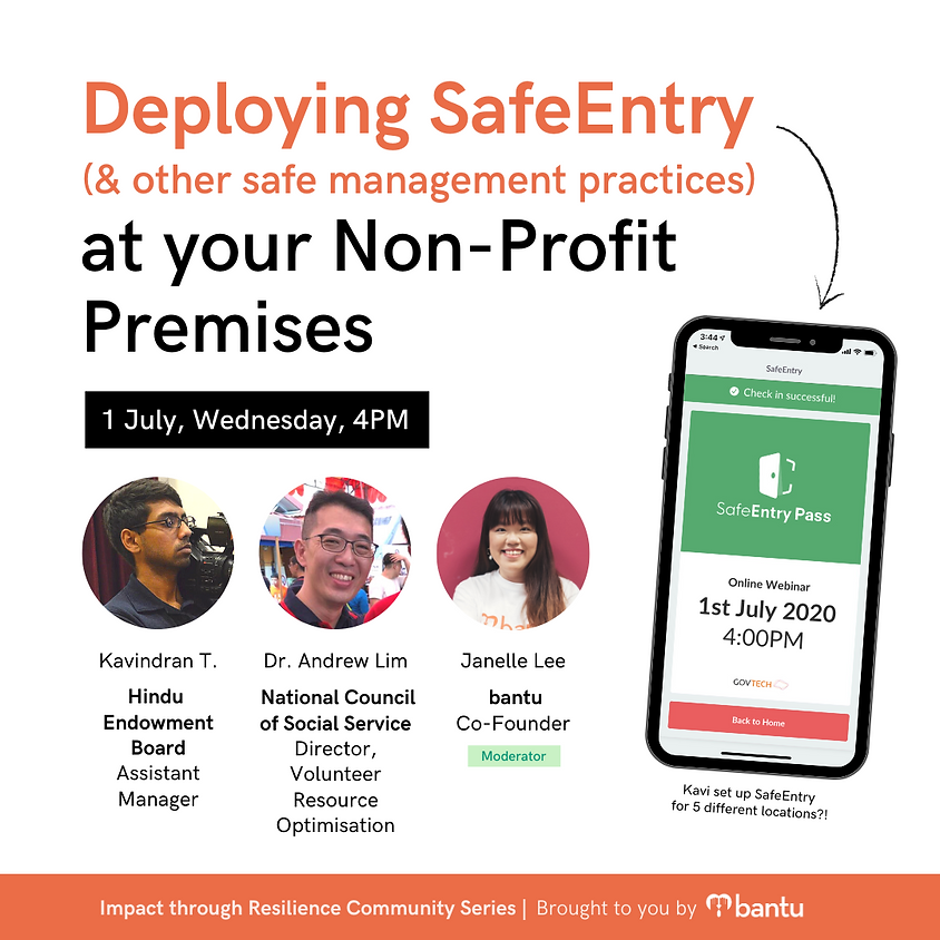 Deploying SafeEntry at Your Non-Profit Premises by bantu