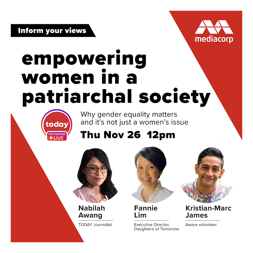 TODAY Instagram Live Series: Empowering women in a patriarchal society