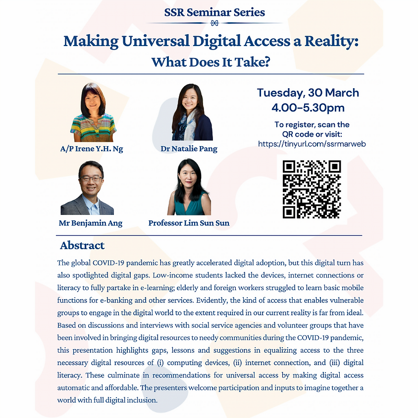 SSR Seminar Series - Making Universal Digital Access a Reality