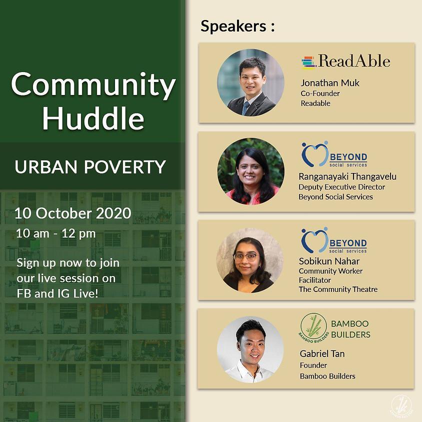 Bamboo Builders Community Huddle: Urban Poverty