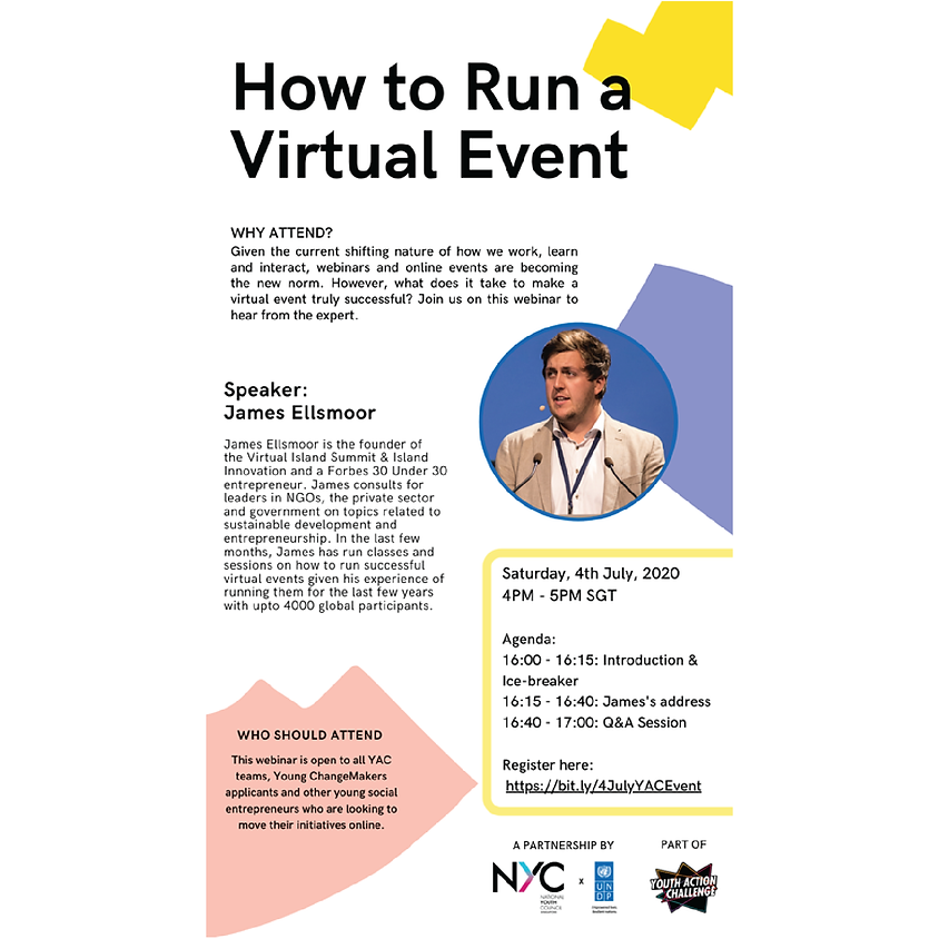 How to Run a Virtual Event by NYC x UNDP