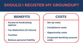 The Costs vs Benefits of Registering Your Groundup