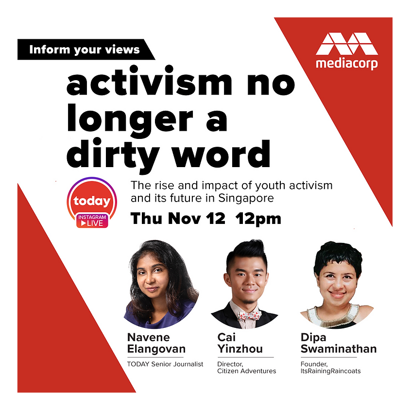 TODAY Instagram Live Series: Activism no longer a dirty word