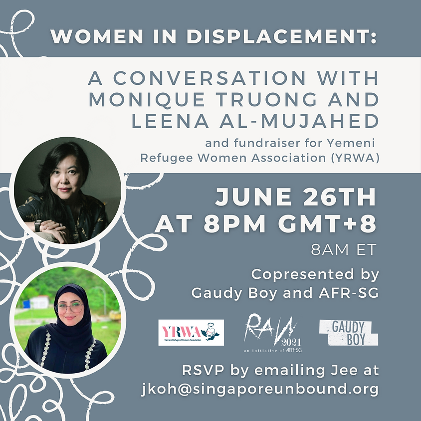 Book Launch (The Sweetest Fruits by Monique Truong) & Conversation with Leena Al-Mujahed