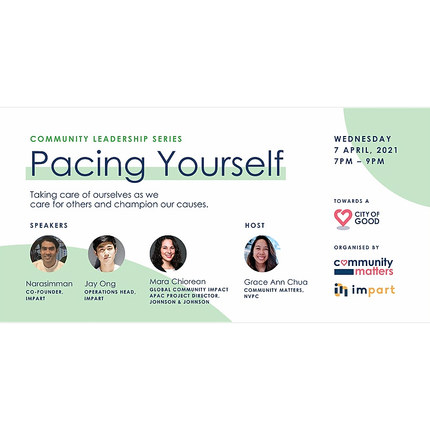 Pacing Yourself: Caring for ourselves as we champion our causes