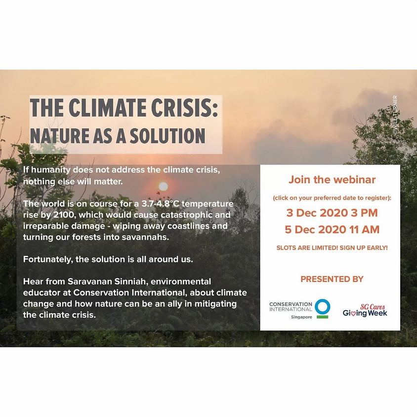 The Climate Crisis: Nature As A Solution, Session 1