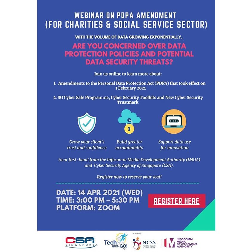 Webinar on PDPA Amendment (For Charities & Social Service Sector)
