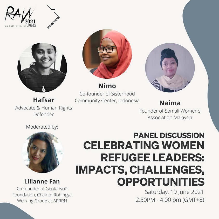 Panel: Celebrating Women Refugee Leaders: Impacts, Challenges, Opportunities