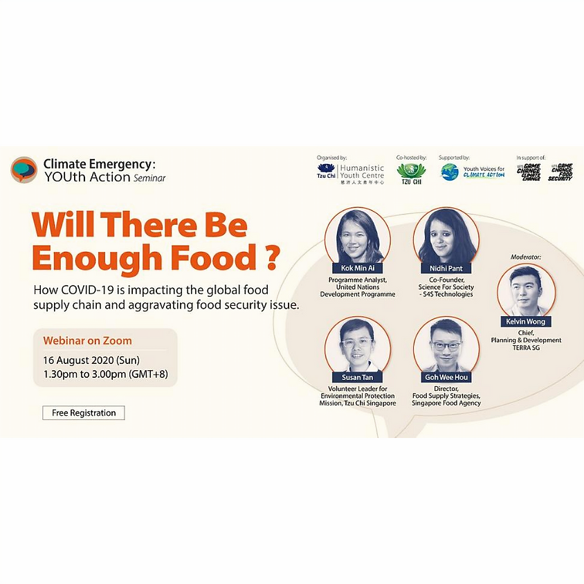 """Climate Emergency: YOUth Action - """"Will There Be Enough Food?"""""""