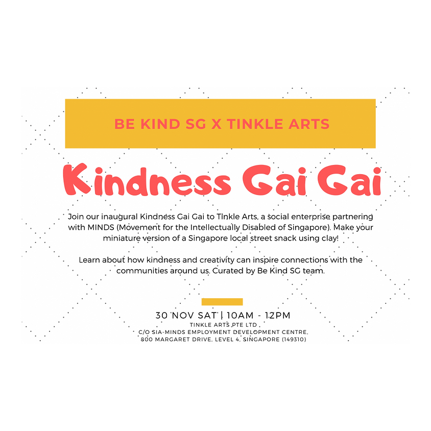 Kindness Gai Gai: Tinkle Arts!