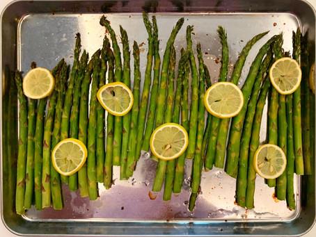 creamy lemon bow tie pasta with aspargus