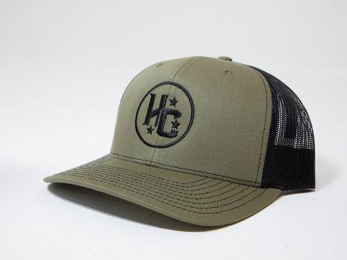 HC Cap (Army Green / Black)