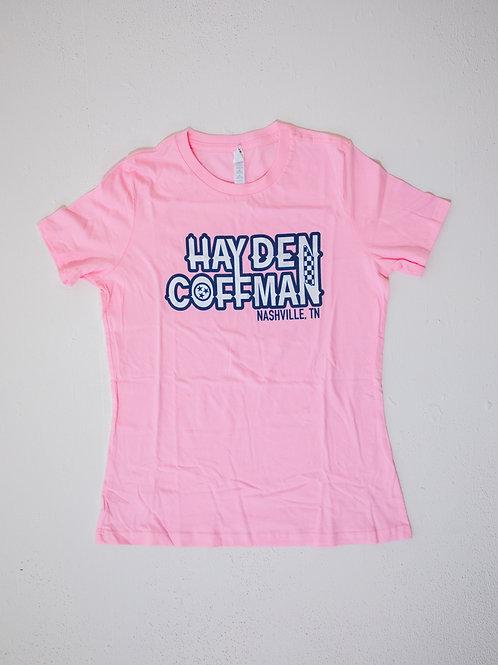 Hayden Coffman Logo Tee (Pink)