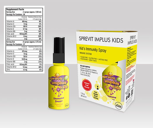 Sprevit Implus Kids Immune Support Vitamin and Multivitamin Spray