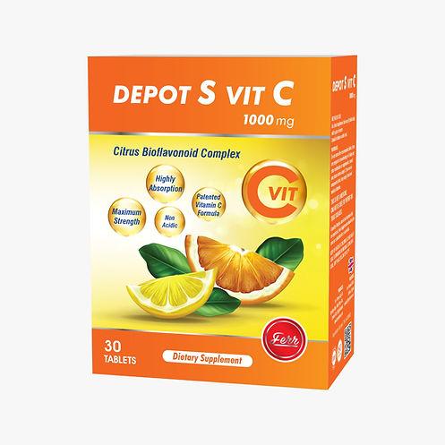 Depot S-Vit C Non-Asidik Mide dostu DEPO tablet formunu yakmayan Daha yüksek emilime sahip Daha uzun süre etkili