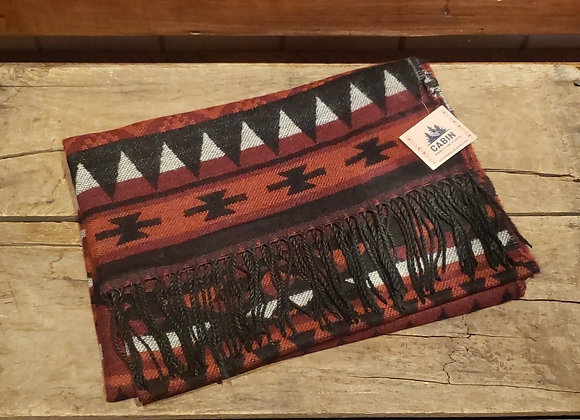 AZTEC SCARF RED