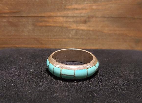 Tsadiase Zuni Turquoise Infinity Band 9.25