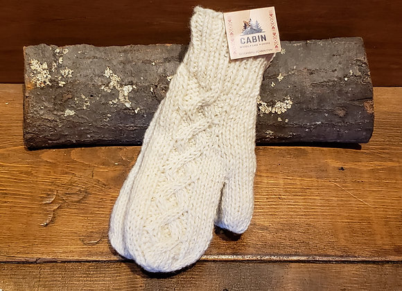 WOOL MITTS CREAM