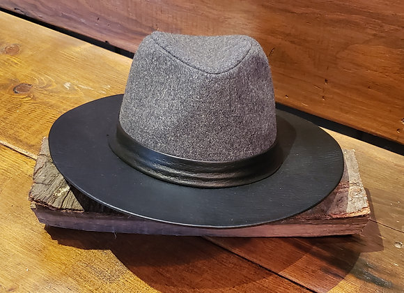 HAT FELT PLEATHER BRIM