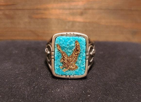 Eagle Dreamcatcher Turquoise Signet 9
