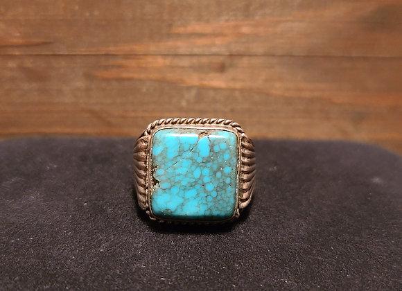 Old Birdseye Turquoise Ring 9