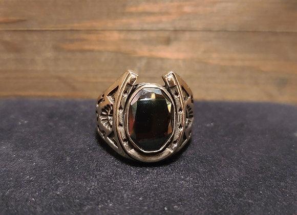 Hematite Horseshoe Ring 8.75 & 10.5