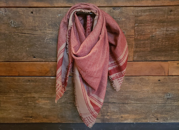 OVERSIZED SCARF RED