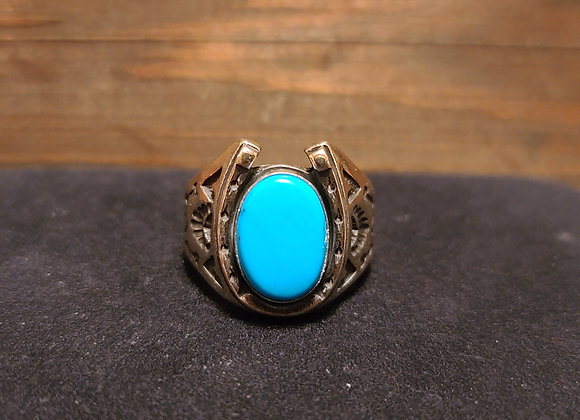 Turquoise Horseshoe Ring 9.75 & 12.5