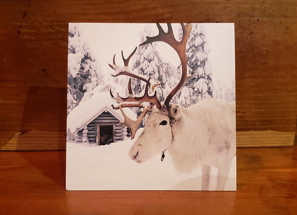 CABIN CARD SNOWY FRIEND