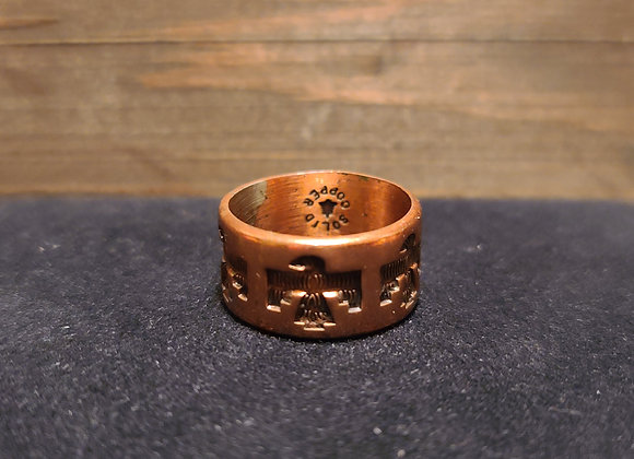 Bell Trading Post Stamped Copper T. Bird Band 5.25 & 6.25