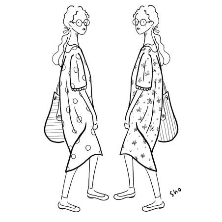 ワンピースを着た女の子
