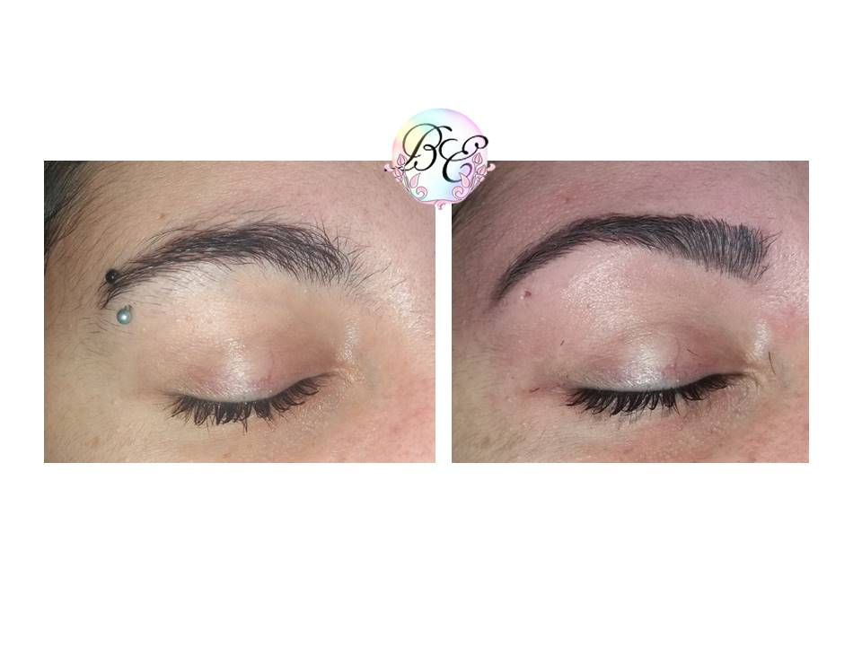 restructuration sourcils au fil Gangemi