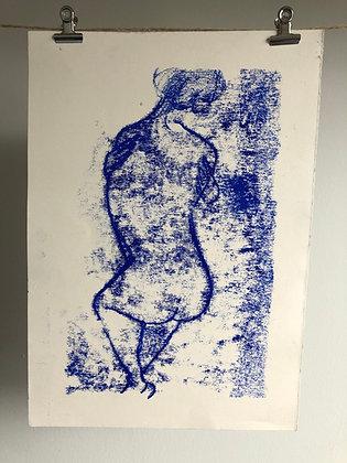 Hug (mono print)
