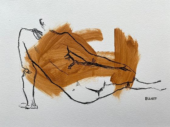 Reclining (brown)