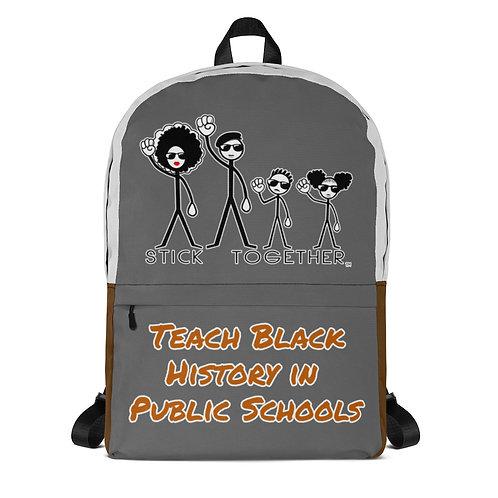 Teach Black History Backpack Grey/Brown