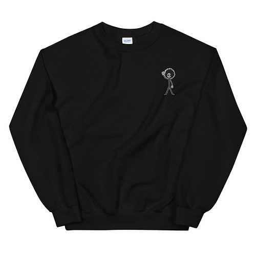 BLACK Afro Woman Crewneck