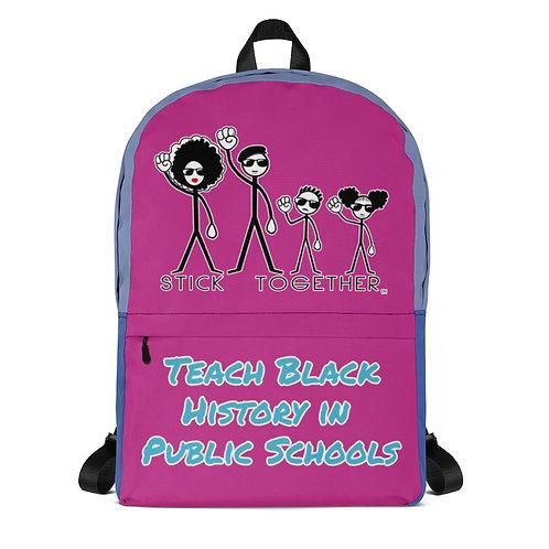 Teach Black History Backpack Multi Purple