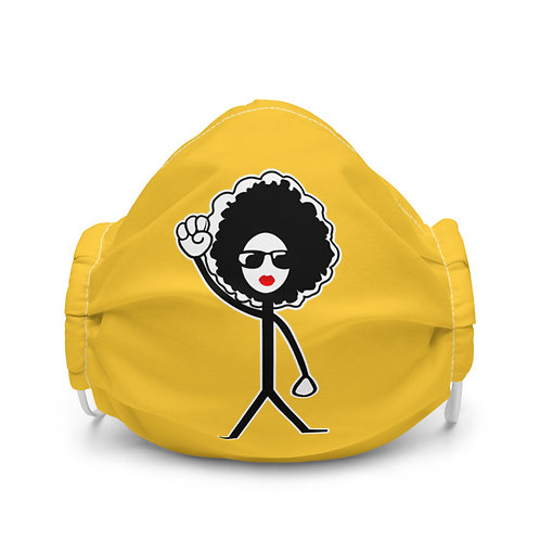 Afro Woman Mask in Honey Yellow