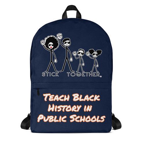 Teach Black History Backpack Navy/Tangerine