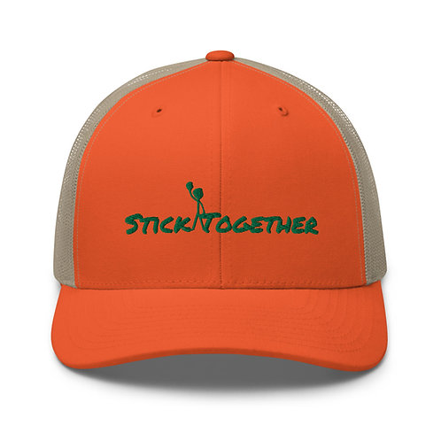 Stick Together Trucker Orange/Green
