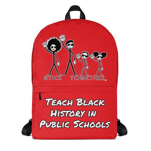 Teach Black History Backpack Big Red
