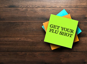 Get Your Flu Shot, the phrase is written