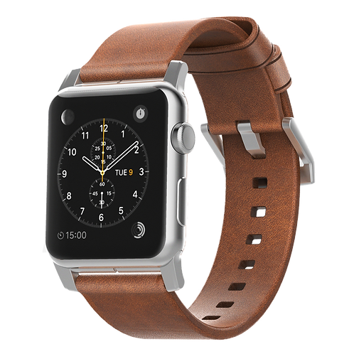 Nomad Horween Leather Strap for Apple Watch - Silver Hardware