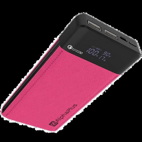 Alphaplus 12000mAh QC 3.0 PowerBank Super Charger - Magenta