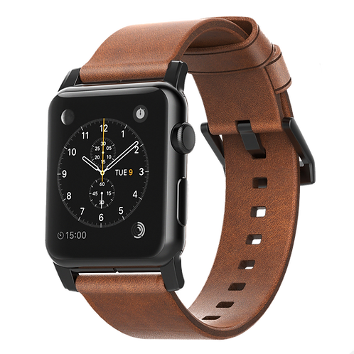 Nomad Horween Leather Strap for Apple Watch - Black Hardware