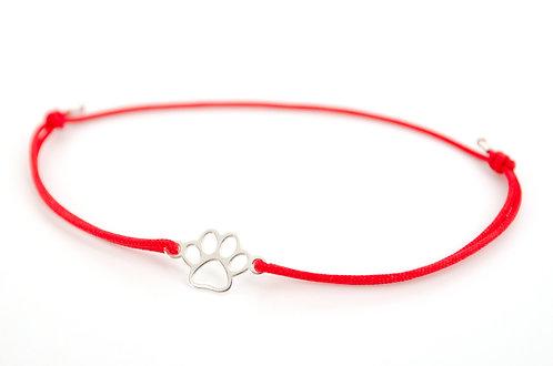 Armband Pfote Silber Pfotenabdruck Tatze Hund Katze Tierliebhaber Schmuck Handmade online kaufen Damen